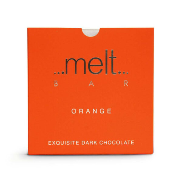 Melt orange dark chocolate bar 70%