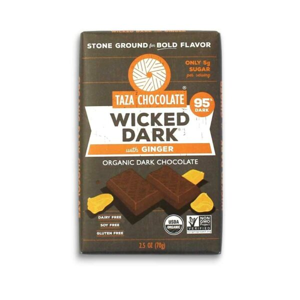 Taza 95% wicked dark with ginger