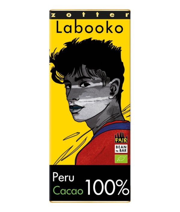 Zotter Labooko 100% dark chocolate from Peru