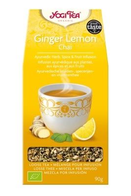 Yogi tea with lemon and ginger