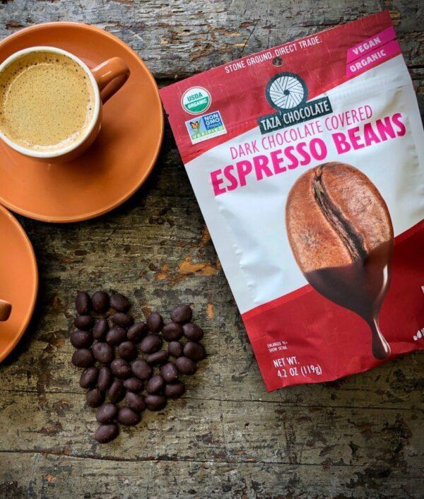 Taza chocolate covered espresso beans
