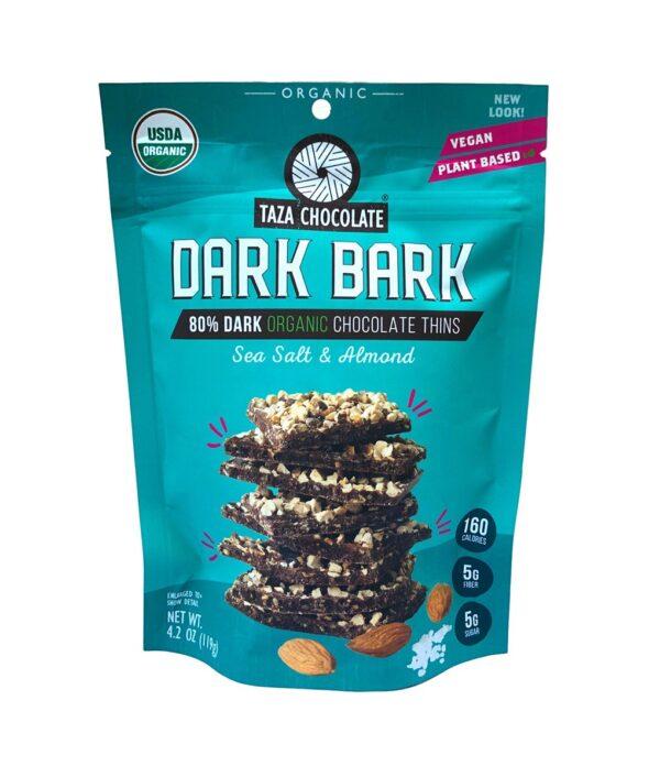 Taza sea salt and almond dark bark