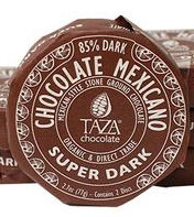Taza 85% super dark chocolate disc