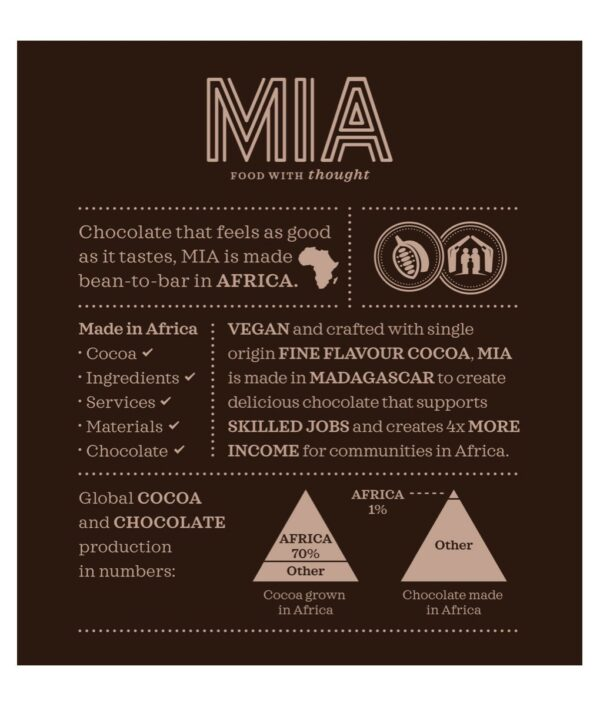 MIA 100% dark chocolate