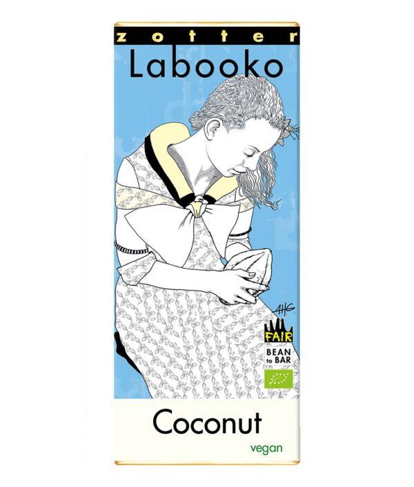 Zotter Labooko coconut chocolate bar
